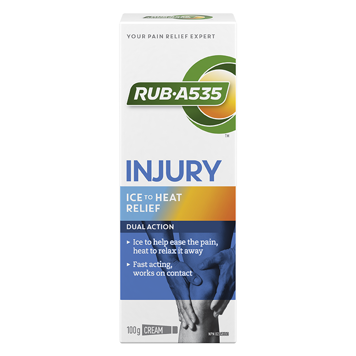 RUB·A535<sup>TM</sup> Injury Ice to Heat Relief Cream