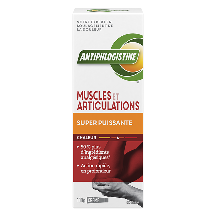 Crème chaleur super puissante muscles et articulations AntiphlogistineMC