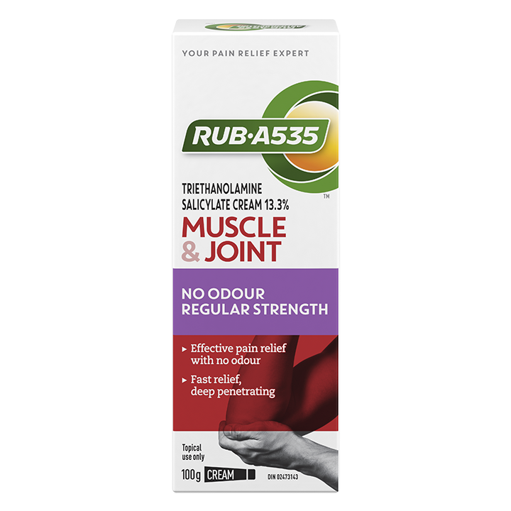 RUB·A535<sup>TM</sup> Muscle & Joint No Odour Regular Strength Cream