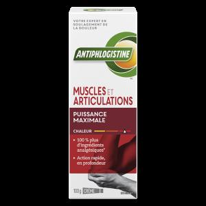 Crème chaleur puissance maximale muscles et articulations AntiphlogistineMC